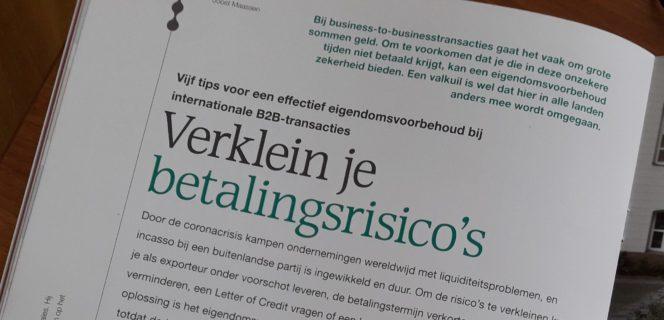 Een effectief eigendomsvoorbehoud in internationale B2B transacties